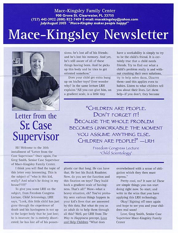 Newsletter: Letter from the Senior Case Supervisor (2005 ...