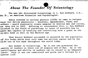 Promo: About the Founder of Scientology  (1957)