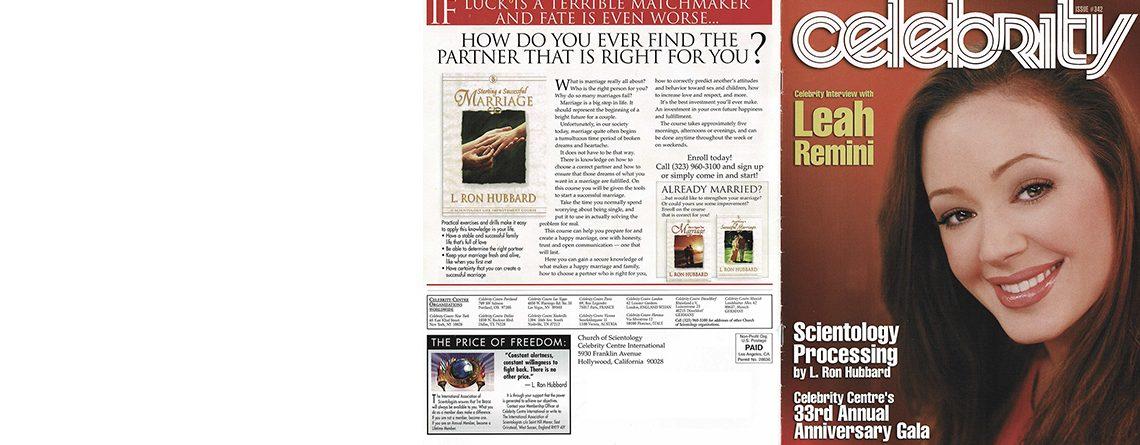 Scientology magazine: Celebrity Gala (2002)