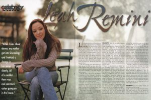 Scientology magazine: Celebrity interview: Leah Remini (2002)