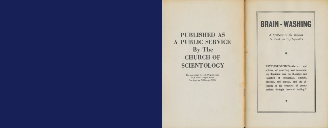 Scientology and Brainwashing