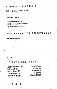 Research paper on scientology